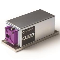 連続発振個体レーザ Cubeシリーズ 375-730 nm、~100 mW、小型連続発振レーザ