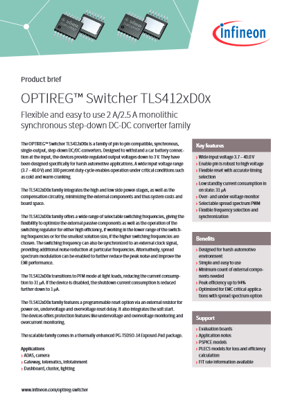 DC/DCコンバータ OPTIREG Switcher TLS412xDxx